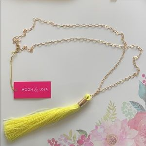 Jewelry - BRAND NEW Moon and Lola yellow tassel necklace